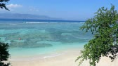 indonesia : Idyllic beach with beautiful turquoise sea, white sand and greenery
