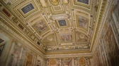 admirado : Ceiling in Castel SantAngelo in Rome, Italy. Shot of beautiful and unique ceiling fresco in Castel SantAngelo in Rome, Italy admired by many tourists from all over the world Stock Footage