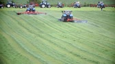 tenure : Tractor is filmed during work on nice green lawn in a very nice environment on a very authentic countryside. Stock Footage