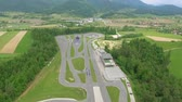 kaygan : A safe driving center in the middle of the countryside. Aerial shot. Its spring time. Stok Video