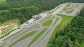 kaygan : A big safe driving center in the middle of Slovenia. Aerial shot. We can see many roads.