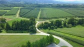 casa de campo : Gorgeous green landscape in Slovenia. Aerial shot. The country is really beautiful and stunning.