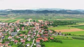 serio : An amazing view of the Slovenian landscape. Everything is green. The country is really fascinating.