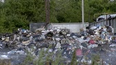 smell : a garbage dump pollutes the environment Stock Footage