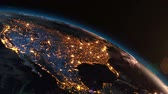 city lights : Planet Earth Western Hemisphere Night Light Zoom in