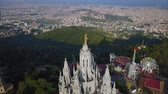 jezus : Tibidabo mountain, Barcelona, Catalonia, Spain. Wideo