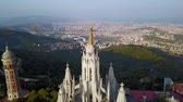 rodas : Tibidabo mountain, Barcelona, Catalonia, Spain. Stock Footage