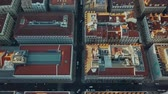 Португалия : Sky view from the charming city of Lisbon and its downtow Стоковые видеозаписи