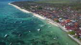 flow : beautiful blue ocean in bali indonesia Stock Footage