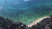beautiful blue ocean in bali indonesia Wideo