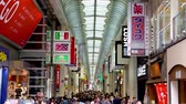 dotonbori : Osaka, Japan-April 14, 2018: Shinsaibashi is having a big sale, both local people and tourists love to shopping here Stock Footage