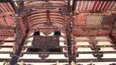 структура : old red wooden roof of Japanese temple Todaiji, full of history