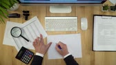 položit : Paperwork. Businessman Working With Documents Flat Lay