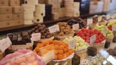 sweet : Chocolate Store. Chocolate Sweets On Shelves In Shop