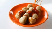 sekaná : Topping traditional spicy sauce on mini pork ball