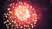 четверть : Fireworks light up the sky with dazzling display