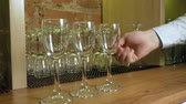 banquete : glasses at the bar Stock Footage