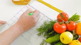 činka : diary fitness, healthy eating, healthy lifestyle concept, fitness diet
