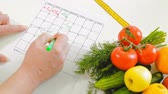 kayıtlar : diary fitness, healthy eating, healthy lifestyle concept, fitness diet