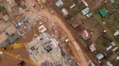 Construction of a residential high-rise building. Aerial shooting from the drone Vidéos Libres De Droits