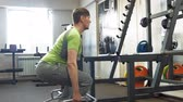 weightlifting : Man in the gym. Fitness. Healthy lifestyle Stock Footage