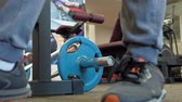 sportowcy : Man in the gym. Fitness. Healthy lifestyle Wideo