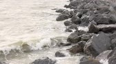 Storm waves at sea. Summer Stock Footage