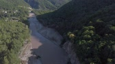 овраг : Flying in a mountain gorge. Aerial survey