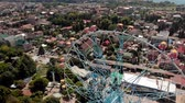 atlıkarınca : Ferris wheel on the seashore. Aerial shot