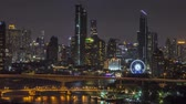 hong kong skyline : Time lapse 4k : Cruise in the Chao Phraya River Through Bangkok.