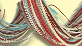 speck : 3D motion,3D rendering, abstract geometric background, circle point line together into a line Rotate together into a rope Soft tones Stock Footage