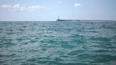 мечты : Slow motion fly over disturbed ocean water surface, Стоковые видеозаписи