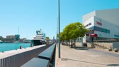 establishing shot : Port Vell Barcelona, establishing shot Stock Footage