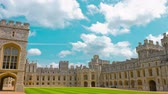 establishing shot : Medieval Windsor Castle in England