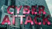 resim yazı : Cyber attack 3d motion title Stok Video