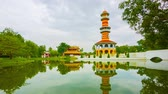 Аюттхая : Video 1080p - Thailand. Ayuthaya. Bang Pa-In Palace. View of the tower