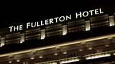 fullerton : SINGAPORE - CIRCA JAN 2015: Facade of the Fullerton Hotel. with its beautiful. colonial architecture in Singapore. FullHD video