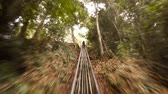 fpv : Slide system for entertainment of tourists near Datanla waterfall. Vietnam. Stock footage 4k Stock Footage