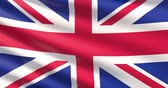 공단 : Flag of United Kingdom. Waved highly detailed 4K fabric texture.