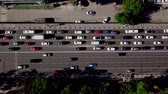 над : Drones Eye View - Top down view of urban traffic jam