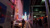 vezes : NEW YORK CITY, USA - OCT 30, 2018: 42nd street view with busy traffic in midtown Manhattan New York City.