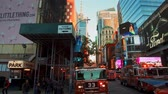 silnik : NEW YORK CITY, USA - OCT 30, 2018: Fire truck and police car ambulance at 42nd street in response to an emergency incident in Midtown Manhattan.