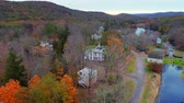 Waterloo Village aerial view in Autumn in New Jersey