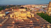 moslim : Aerial view of the Great Mosque of C?rdoba or The Mosque Cathedral of C?rdoba at sunset in Spain