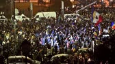 november : BUCHAREST, ROMANIA - NOVEMBER 05, 2015: Third Day Of Protest In University Square And In Front Of National Theater Against Corruption And Romanian Government.