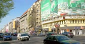 piata : BUCHAREST, ROMANIA - APRIL 05, 2015: Rush Hour Traffic In University Square Downtown Of Bucharest City. Stock Footage