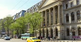 piata : BUCHAREST, ROMANIA - APRIL 05, 2016: The University Of Bucharest (Universitatea Din Bucuresti) In Romania Is An University Founded In 1864 And Is Located In Downtown Historical Center Of The City.