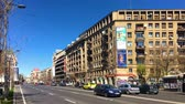 piata : BUCHAREST, ROMANIA - APRIL 10, 2017: Panoramic View Of Gheorghe Magheru Boulevard Of Bucharest, One Of The Most Expensive Commercial Streets In The World.