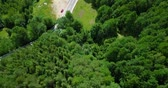 piekne : Aerial Drone Fly Over Carpathian Mountains Forest In Transylvania