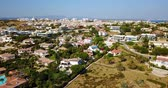 gayrimenkul : Aerial Drone View Of Lagos Residential Neighborhood And Houses In Portugal Stok Video